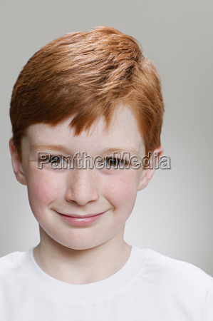 portrait of a red headed boy