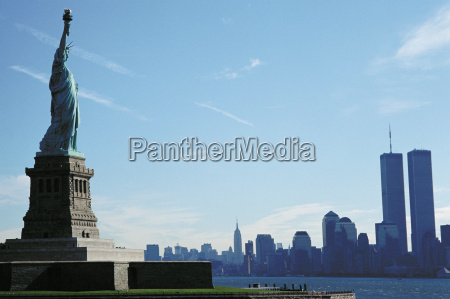 statue of liberty with view of