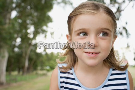 curious looking girl