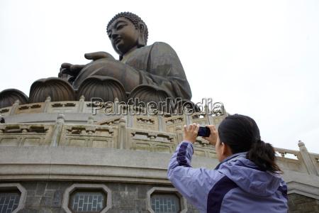 frau religion weiblich statue tourismus buddha