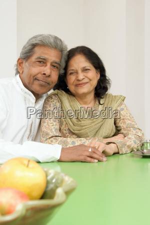 portrait of a senior adult couple