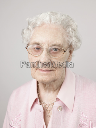 senior adult woman