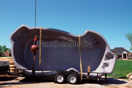 swimming pool on a trailer