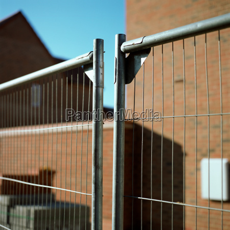 metal fence near house