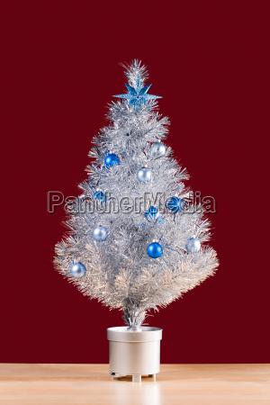 winter silber silbern traditionell kitsch weihnachtsbaum