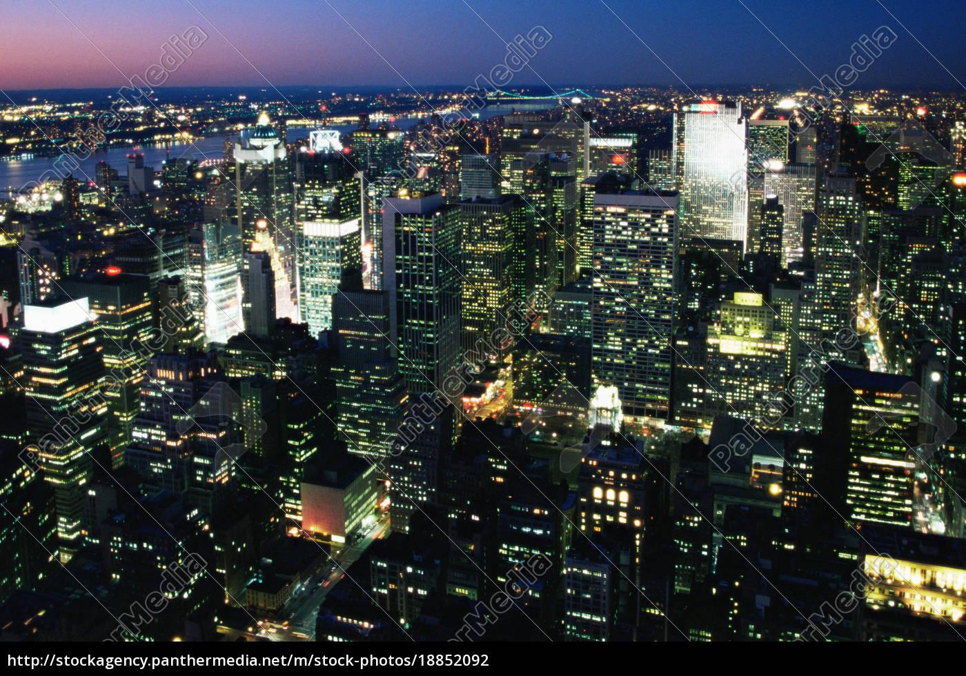 new, york, city, at, night - 18852092