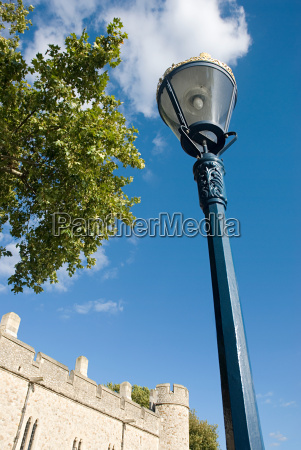 lamppost and part of tower of