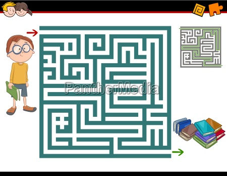 maze activity illustration