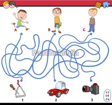 game of path maze illustration