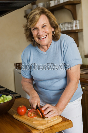 woman preparing a salad