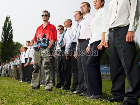 man standing out from the crowd