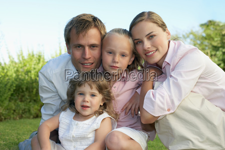 portrait of a family in the