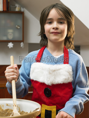 boy with mixing bowl