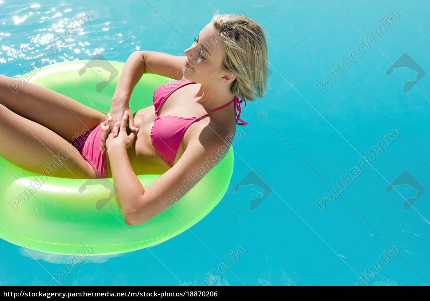 young, woman, in, swimming, pool - 18870206