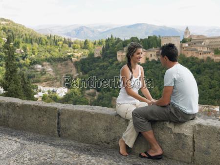 couple near alhambra