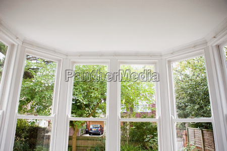 view from a bay window