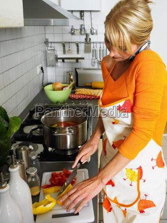 housewife preparing meal