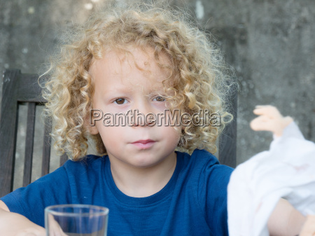 portrait of a little boy with