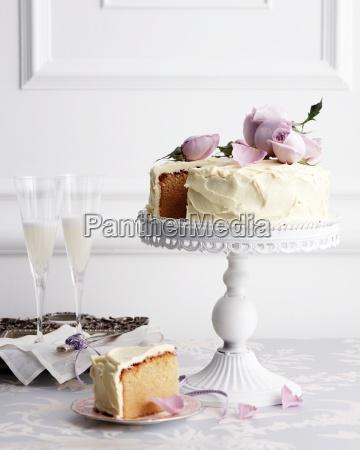 white chocolate mud cake on traditional