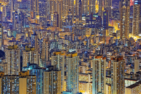hong kong public living downtown at