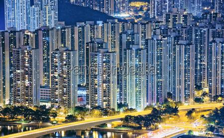 hong kong public living downtown