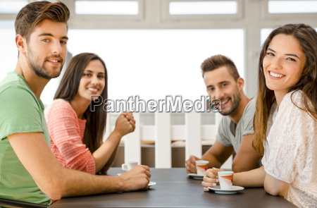 a coffee with friends