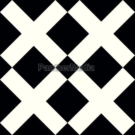 tile black and white x cross