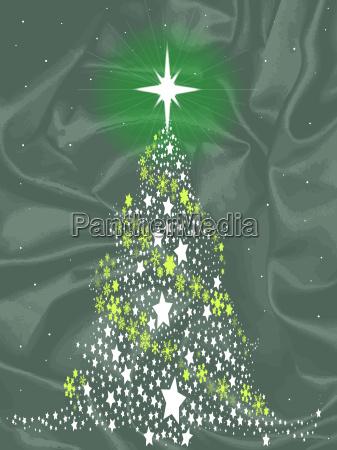 seide weihnachtsbaum