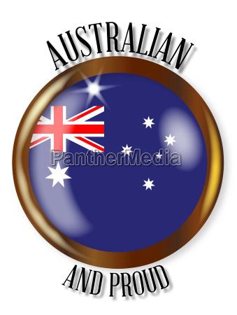 australia proud flag button