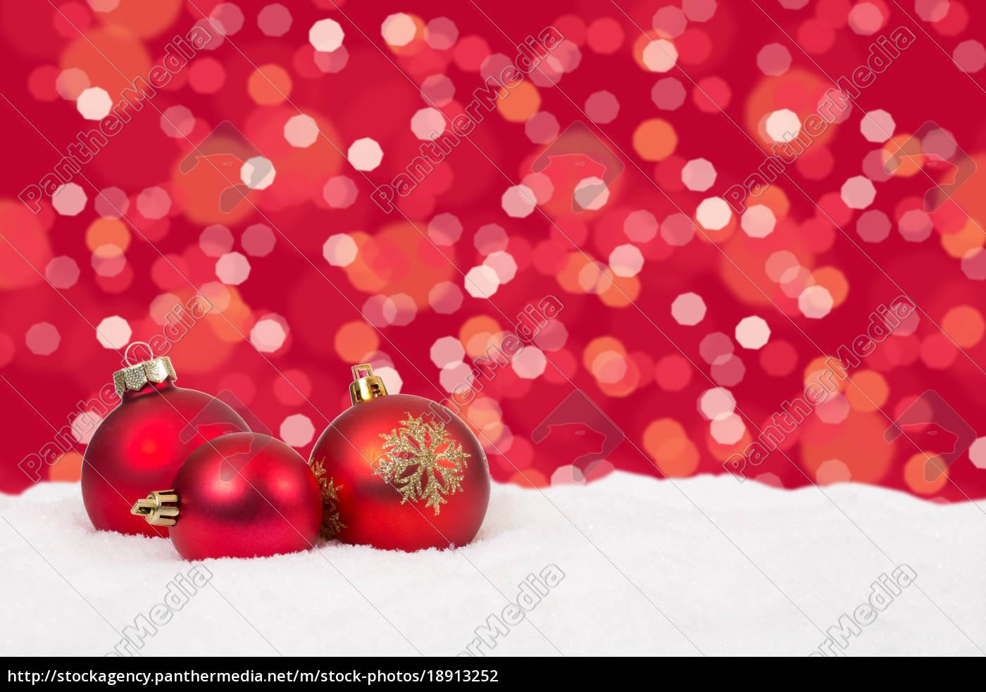 Lizenzfreies Foto 3 - Rote Weihnachtskugeln