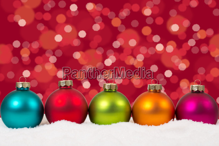 christmas colorful christmas baubles in a