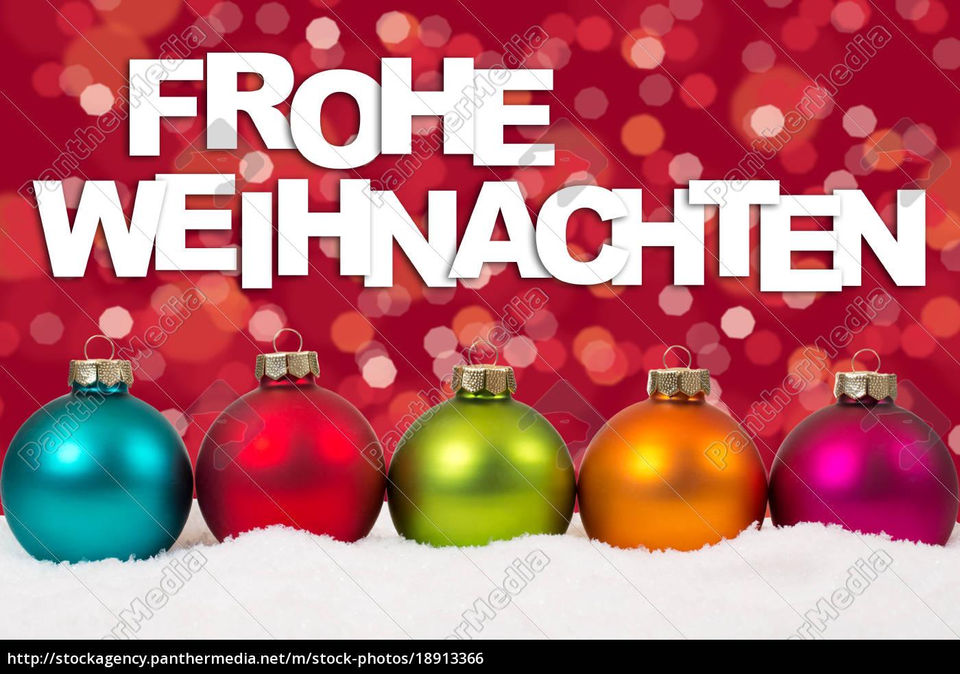 Frohe Weihnachten Weihnachtskarte Karte bunte - Stock Photo ...