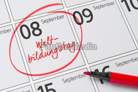 september 8 world education day