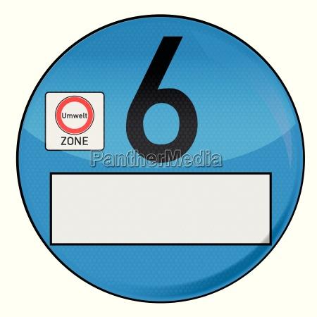 umweltplakette nummer 6