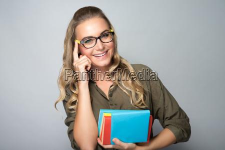 happy student girl portrait