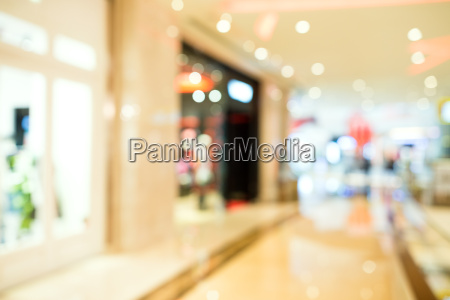blur ansicht von einkaufszentrum