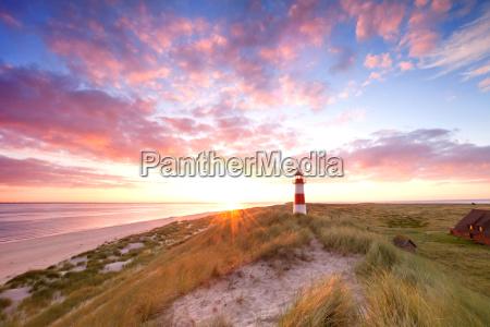leuchtturm sylt zum sonnenaufgang