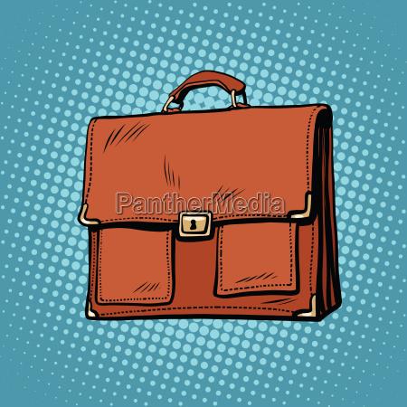 realistic stylish leather business portfolio bag