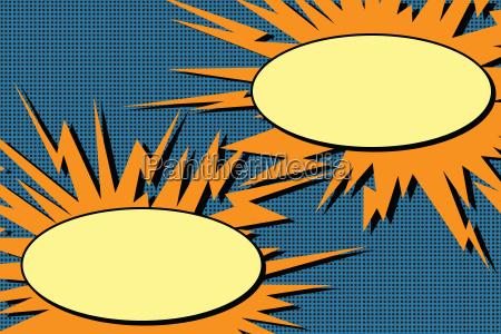 comic dialog blasen explosion pop art