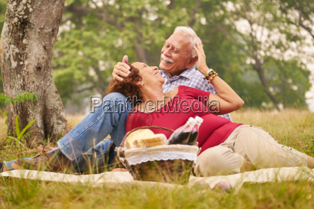elderly couple senior man and woman