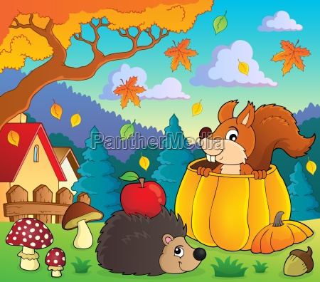 autumn nature theme image 1