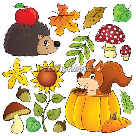 autumn nature theme set 1