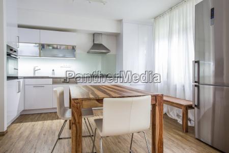 modern kitchen interior design architektur stock