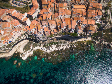 aerial view of the old town
