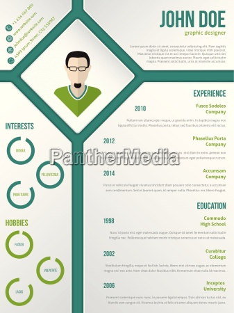 modern cv resume template with photo