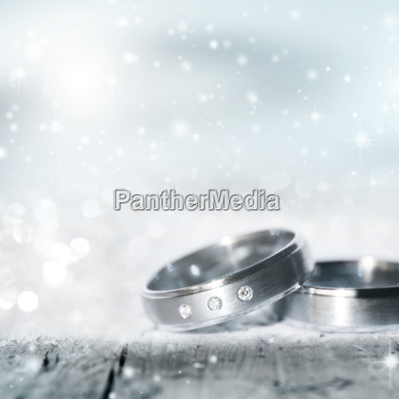 wedding rings in silver