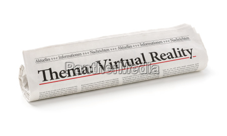 newspaper role with the heading virtual