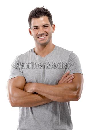 handsome mann laechelnd
