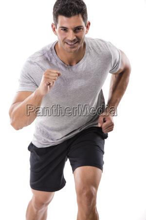 man faengt an zu rennen