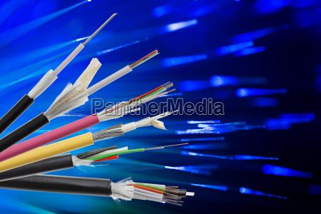 glasfaser kabel sammlung